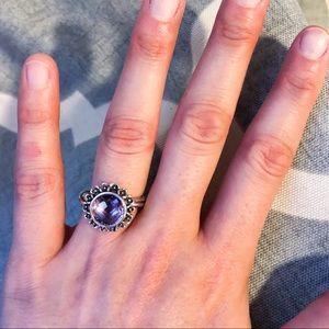 ebca16f99 ... Pandora Jewelry - Pandora Floral Elegance Light Amethyst Ring ...